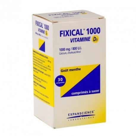 Fixical Vitamine D3 1000mg/800UI 30Comprimés