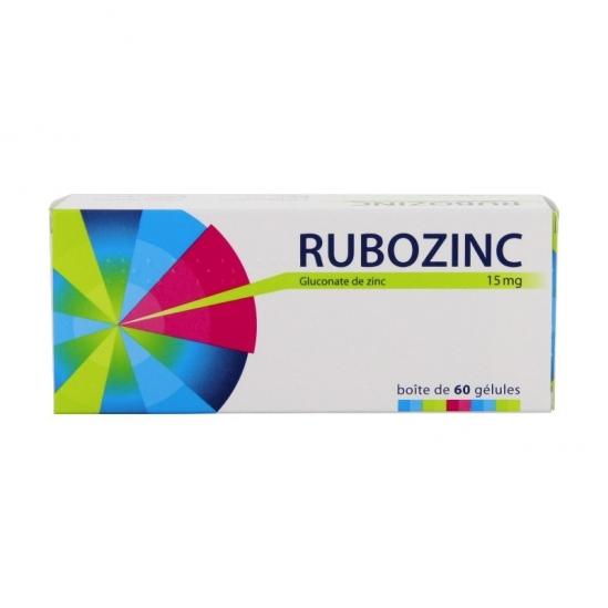 Rubozinc 15 mg 60 gélules