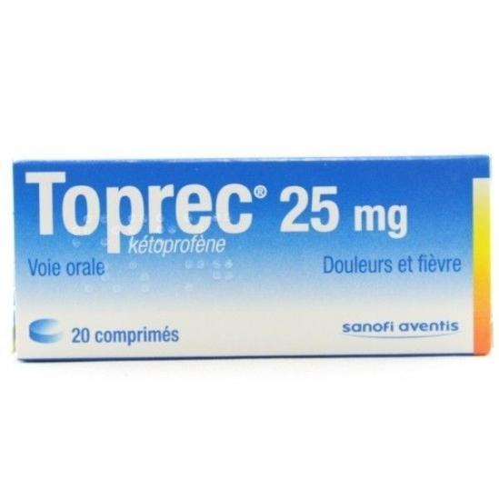 Toprec 25mg 20 comprimés