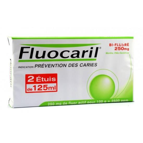 Fluocaril Bi-Fluoré 250mg Menthe pâte dentifrice Lot de 2