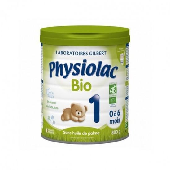 Physiolac Bio 1er âge de 0 à 6 mois 800g