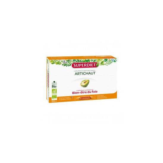 Superdiet Artichaut bio complément alimentaire 20 ampoules 300ml