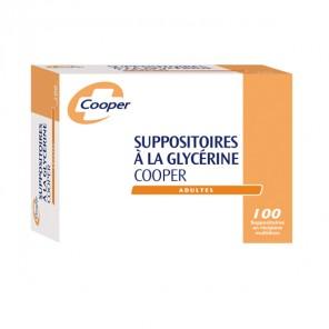 Cooper suppositoire glècérine adulte boite de 100