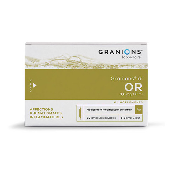 Granions d'or 0,2 mg/2 ml solution buvable 30 ampoules