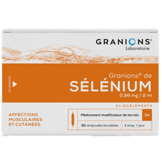 Granions sélénium 30 ampoules 60ml