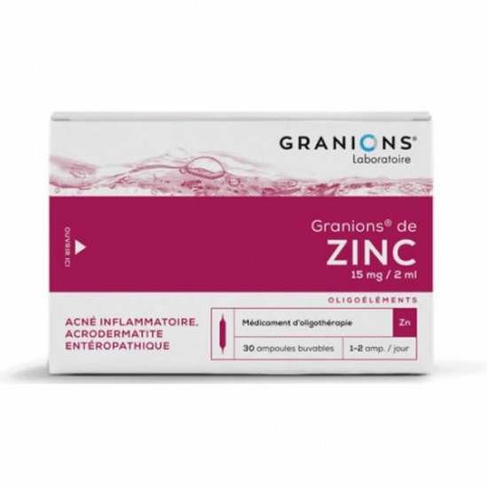 Granions de zinc 30 ampoules 60ml