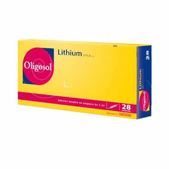 Oligosol lithium 28 ampoules 56ml
