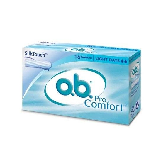 O.B Pro Comfort light days 16 tampons